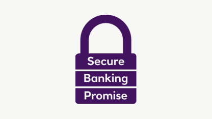 Secure banking promise icon