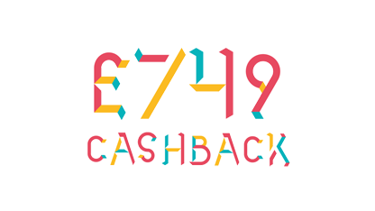 Illustration of £749 cashback offer